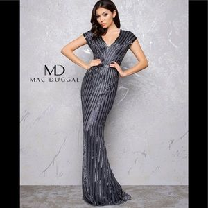 Mac duggal beaded cap gown 4431